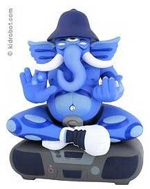 ganesh on boombox toy