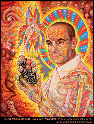 albert hoffman portrait by alex grey