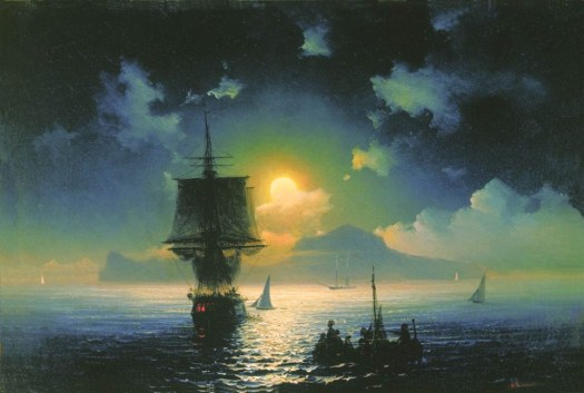 Ivan Aivazovsky - Lunar Night on Capri - 1841