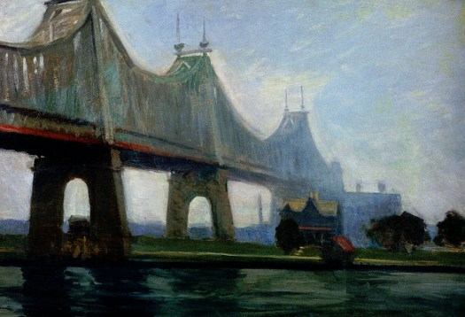 Edward Hopper - Queensborough-Bridge - 1913
