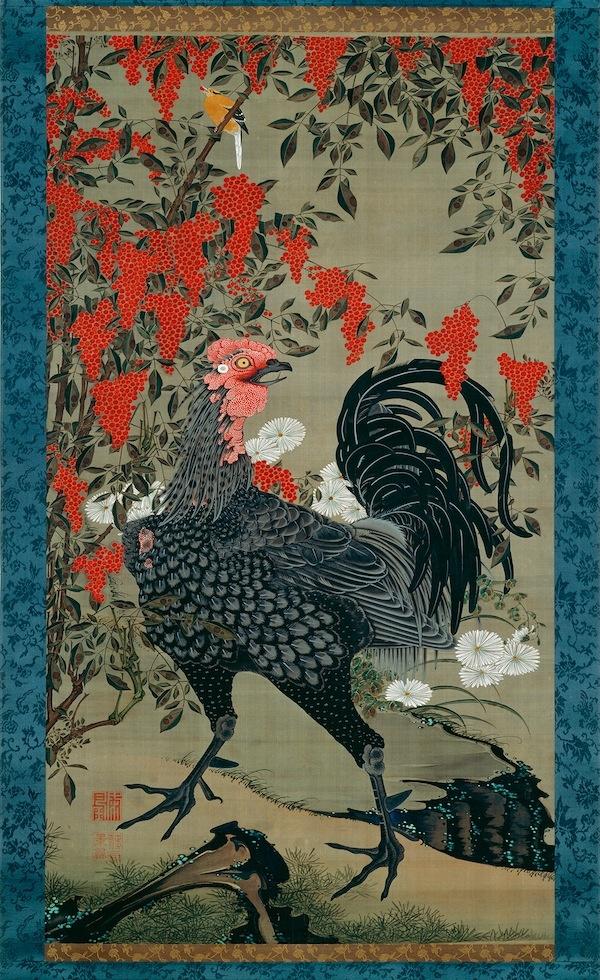 Itō Jakuchū - Nandina and Rooster