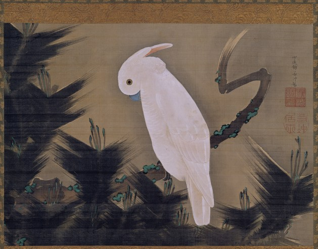 Itō Jakuchū - White Cockatoo on a Pine Branch
