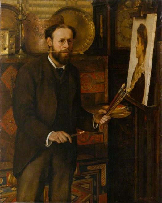 John Collier by Marion Collier (nÈe Huxley), oil on canvas, 1882-83