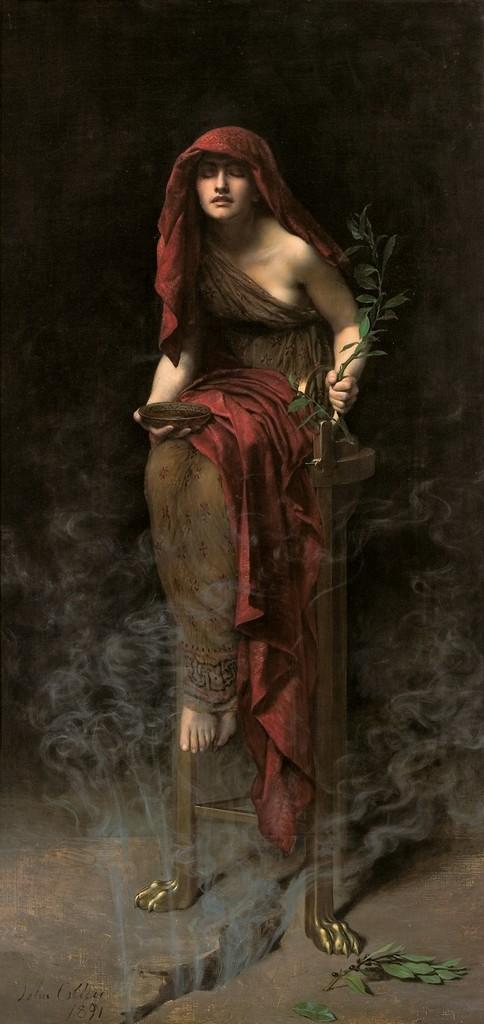 John Collier - Priestess of Delphi -1891