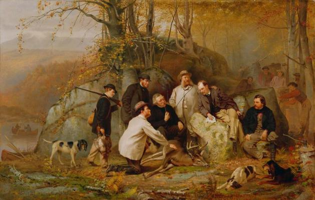 John George Brown - Claiming the Shot--After the Hunt in the Adirondacks
