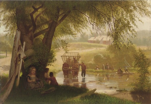 John George Brown - Crossing the Stream