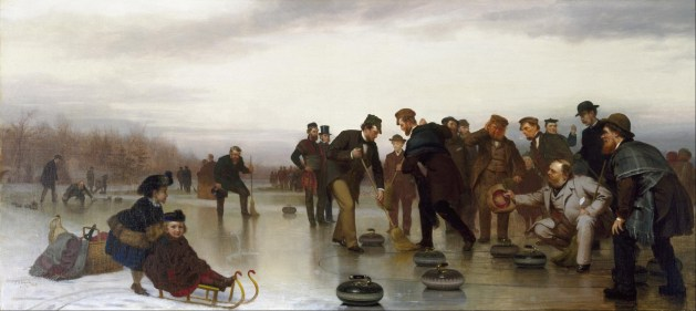 John George Brown - Curling; A Scottish Game, at Central Park