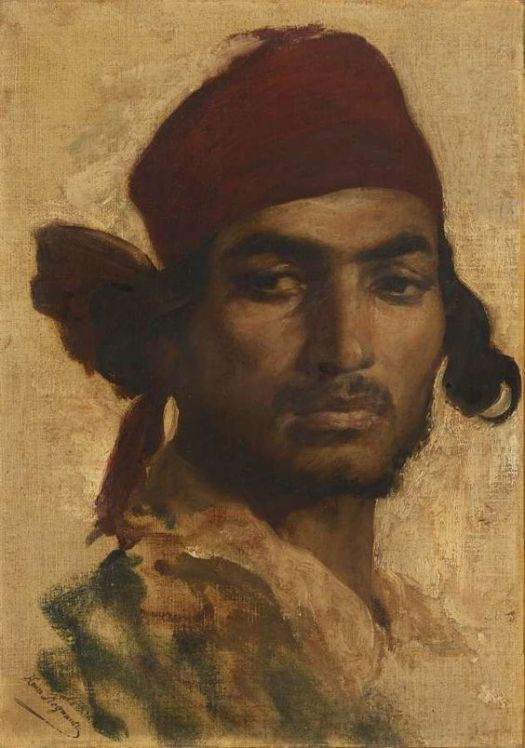 Henri Regnault - Portrait of a Gypsy 1868