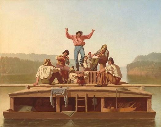 George Caleb Bingham - The Jolly Flatboatmen