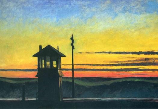 Edward Hopper - Railroad Sunset - 1929