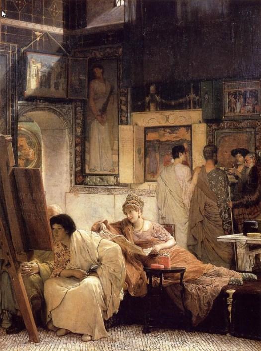 Lawrence Alma-Tadema - A Picture Gallery (Benjamin Constant) - 1866