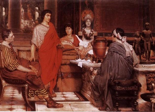 Lawrence Alma-Tadema - Catullus at Lesbia's - 1865