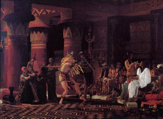 Lawrence Alma-Tadema - Pastimes in Ancient Egypt 3 000 Years Ago - 1863