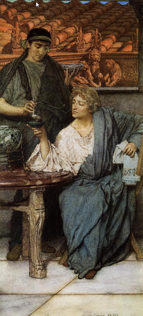 Lawrence Alma-Tadema - The Roman Wine Tasters - 1861