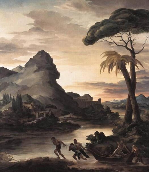 Theodore Gericault - Heroic Landscape with Fishermen - 1818
