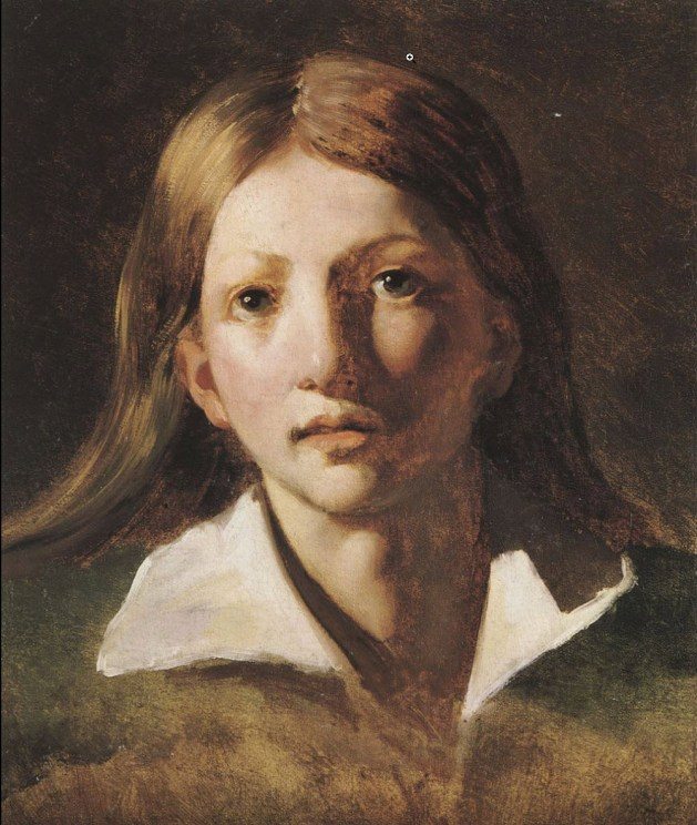Theodore Gericault - Portrait Study of a Youth - 1818-1820