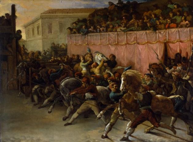 Theodore Gericault - The Riderless Racers of Rome - 1817