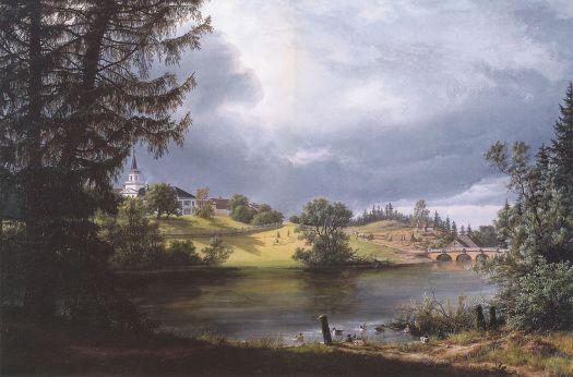 Johan Christian Dahl - Frogner Manor - 1842