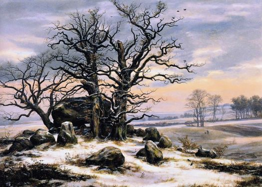 Johan Christian Dahl - Megalithic Tomb in Winter - 1824-25