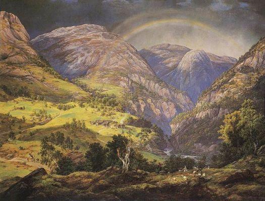 Johan Christian Dahl - View from Stalheim - 1842