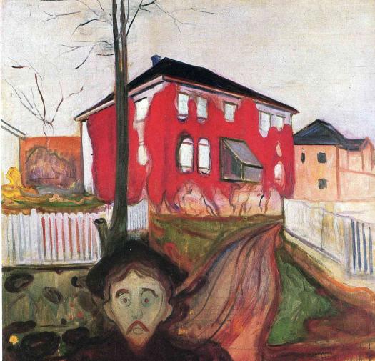 Edvard Munch - Red Virginia Creeper - 1898-1900