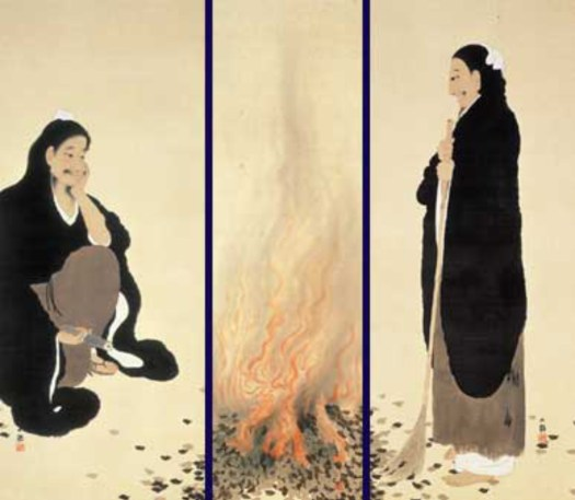 Yokoyama Taikan - By The Fire