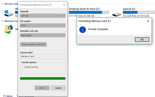 how to increase ram memory in windows 7 using Memory Card