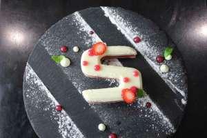 3D printed cake on display