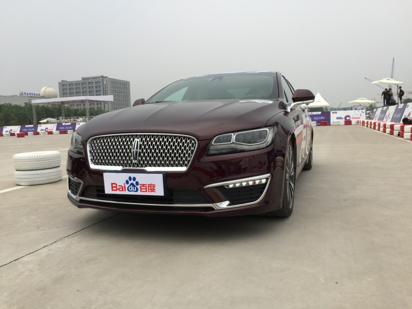 Lincoln MKZ running Apollo 1.0 (Image credit: TechNode)