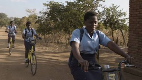 Ofo bikes being put through their paces in Malawi (Image credit: Caijing)