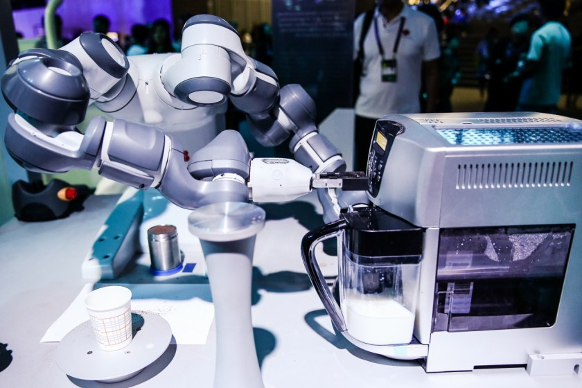 Smart coffee robot made by ABB (Image credit: Alibaba)