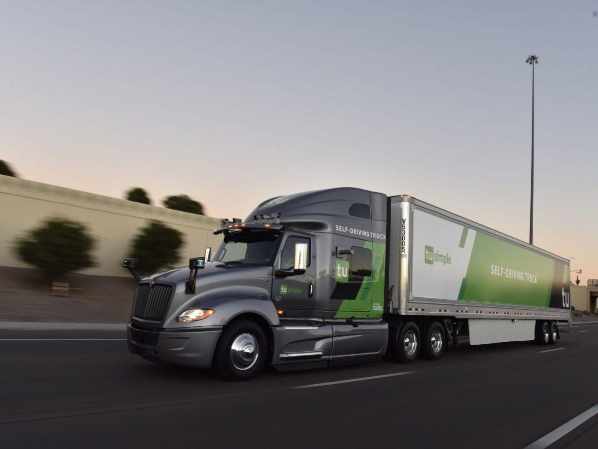 truck TuSimple autonomous driving