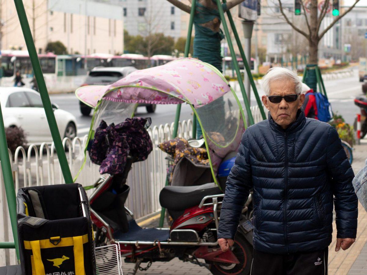 seniors elderly shanghai street