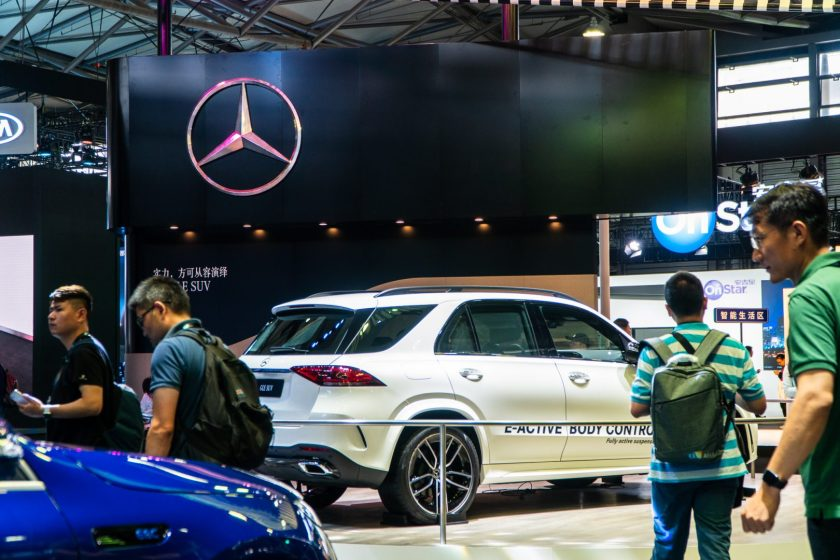 Mercedes was present at CES Asia 2019 to showcase its lineup of electric cars in Shanghai, China on June 11, 2019. (Image credit: TechNode/Eugene Tang)
