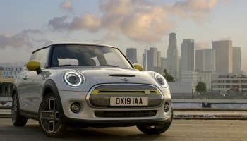 In this image from BMW, the company launched its first widely available battery electric Mini Cooper SE in July 2019. (Image credit: BMW)