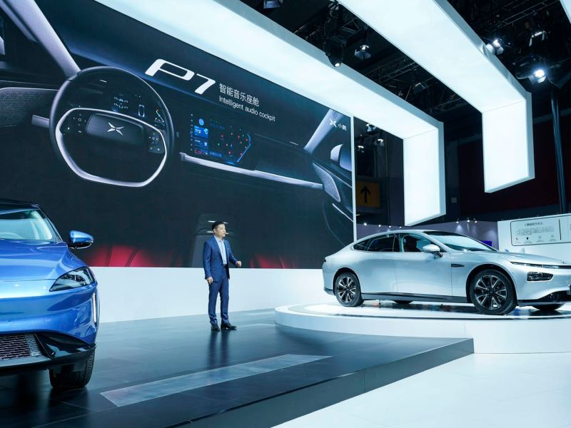 Tesla He Xiaopeng, chairman and CEO of Xpeng Motors spoke at a press briefing during this year's Guangzhou Auto Show on Friday, November 22, 2019. (Image credit: Xpeng Motors)