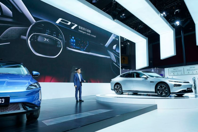 He Xiaopeng, chairman and CEO of Xpeng Motors spoke at a press briefing during this year's Guangzhou Auto Show on Friday, November 22, 2019. (Image credit: Xpeng Motors)