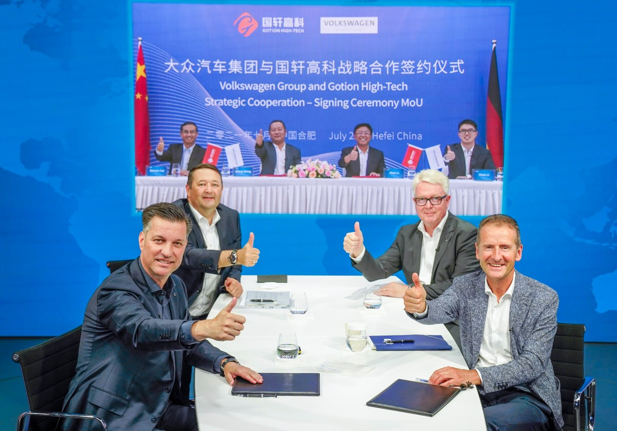 Electric vehicles battery Volkswagen gotion tesla china europe Germany