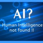 Artificial Intelligence Vs. Human Intelligence