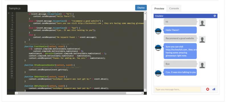 Gupshup bot building platform