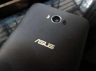 Camera with Laser sensor and dual tone LED flash