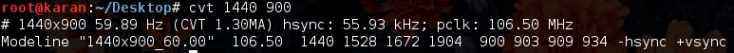cvt-xrandr-resolution-linux