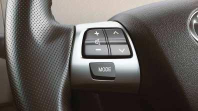 Music controls on steering wheel