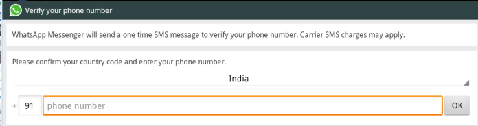 verify phone no on whatsapp