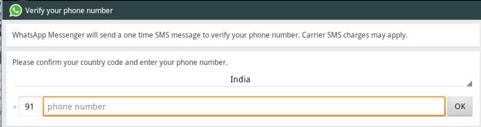 verify phone no on whatsapp