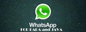 whatsapp for java phones