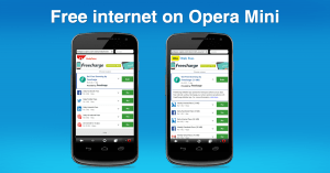 free internet on opera mini handler