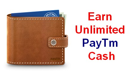 earn unlimited paytm cash from reach app