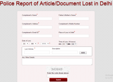 How to file FIR Online For Lost Documents, Mobiles in India