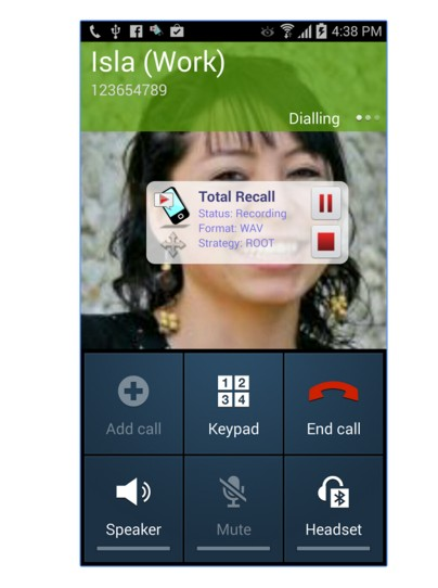 Total Recall Call Recorder App.
